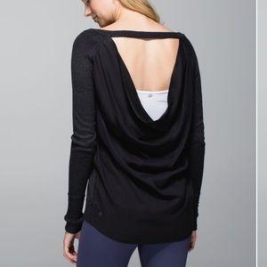 Lululemon Unity Pullover in Heathered Black